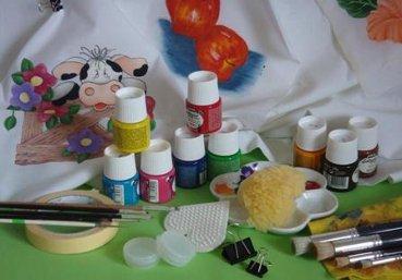 materiales-pintura-tela