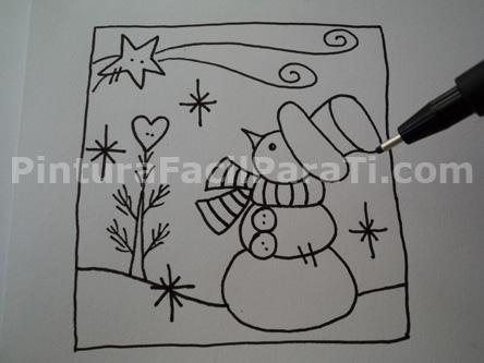 Dibujos de navidad a color faciles imagui - Dibujos para postales navidenas ...