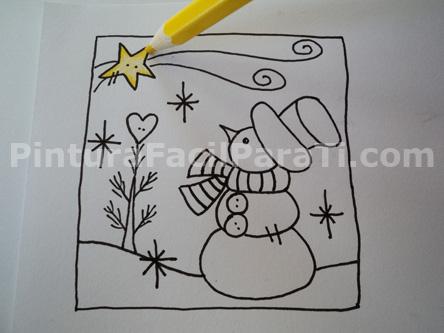 Imagenes de navidad faciles para dibujar imagui - Tarjetas de navidad faciles ...