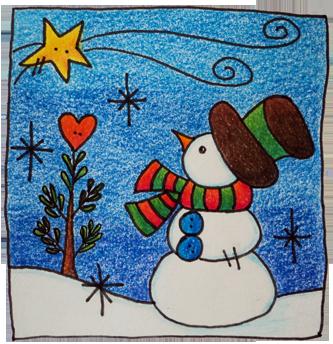 Tarjetas para colorear parte 1 pintura facil para ti - Tarjetas de navidad faciles ...