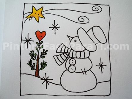 Dibujos navideos a color para tarjetas blog catlico - Dibujos para postales navidenas ...