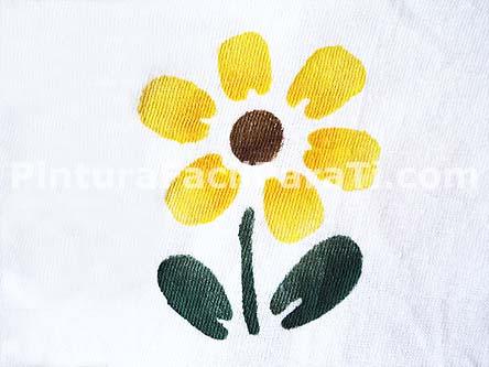 pintura de flores girasol