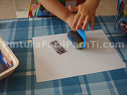 Pintar con rodillo infantil pintura facil para ti - Rodillos de pintar ...