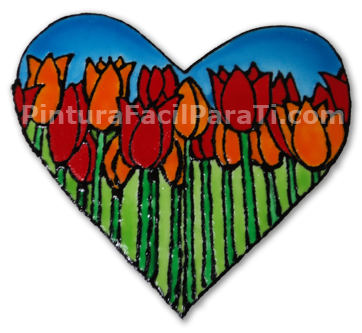 Download Coraz Para Pintar Con Tulipanes Pintura Facil