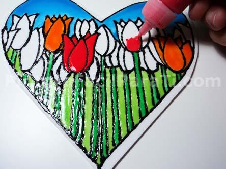 Corazón para Pintar con Tulipanes 3 | PINTURA FACIL PARA TI