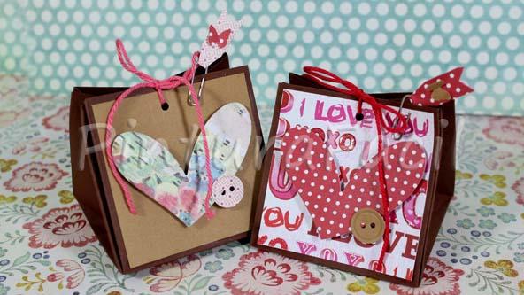 Como hacer bolsas de papel para regalos y san valentin - Como hacer bolsas de regalo ...