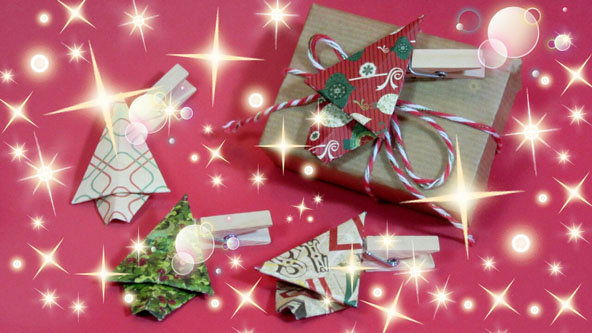 Origami adornos navide os de arbol de navidad pintura - Como se hacen adornos navidenos ...