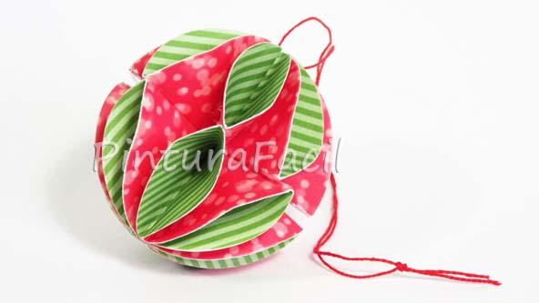 Adornos navide os esferas de papel pintura facil para ti - Adornos navidenos de papel ...