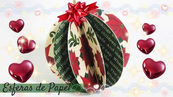 Navidad como hacer esferas navide as adornos navide os - Adornos navidad de papel ...