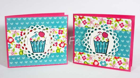 Tarjetas de cumplea os cupcake pintura facil para ti - Tarjetas de cumpleanos hechas a mano faciles paso a paso ...